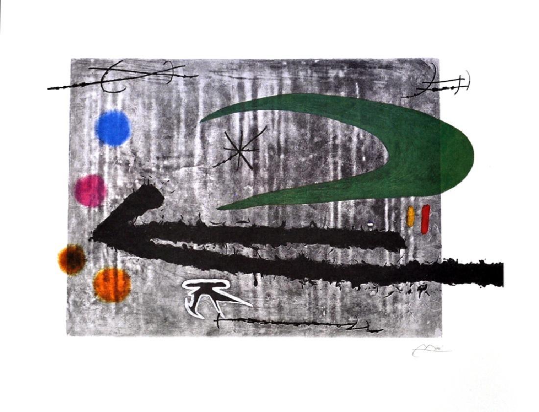 JOAN MIRO Toward the Left Lithograph, 496 of 500