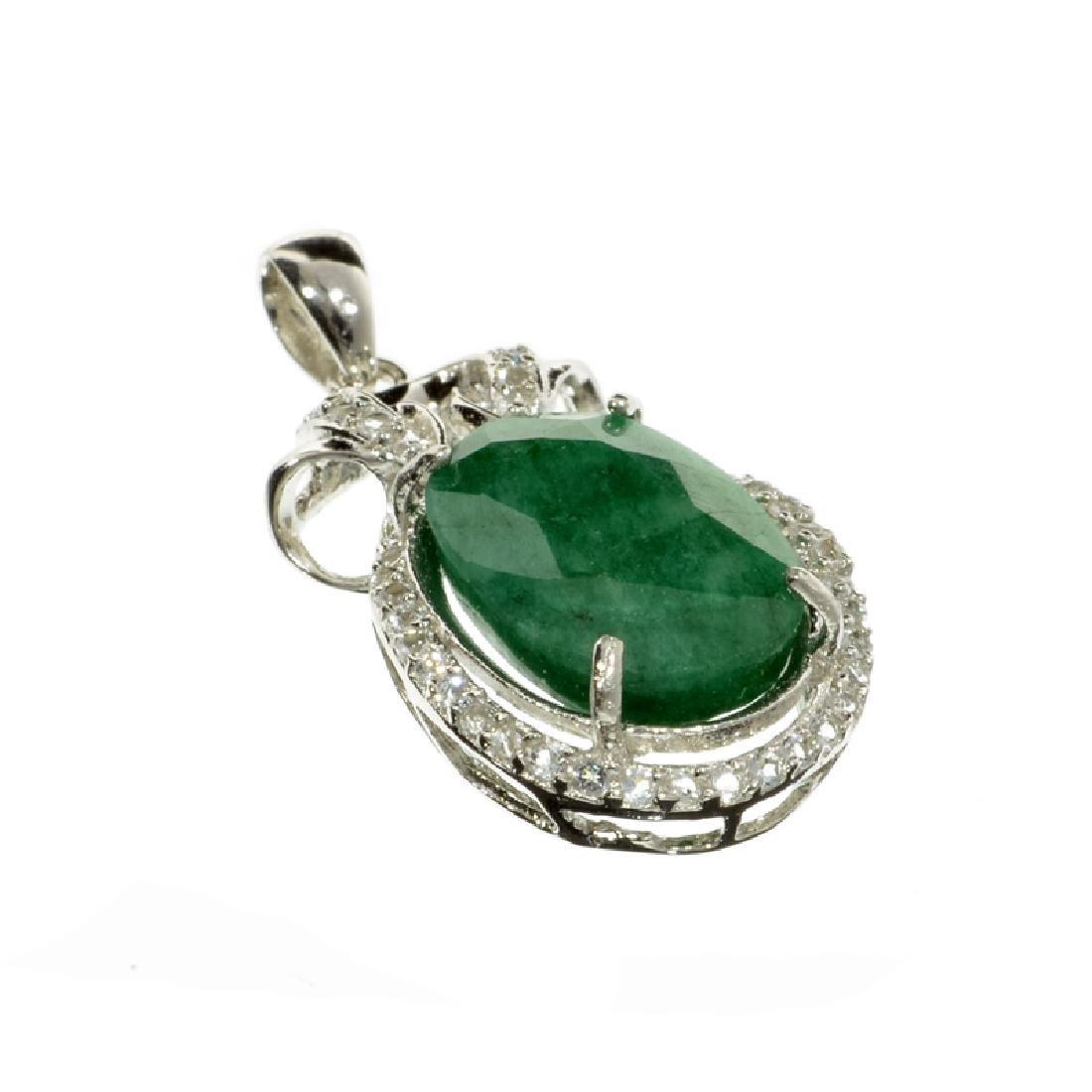 APP: 3k Fine Jewelry 7.42CT Green Beryl Emerald And