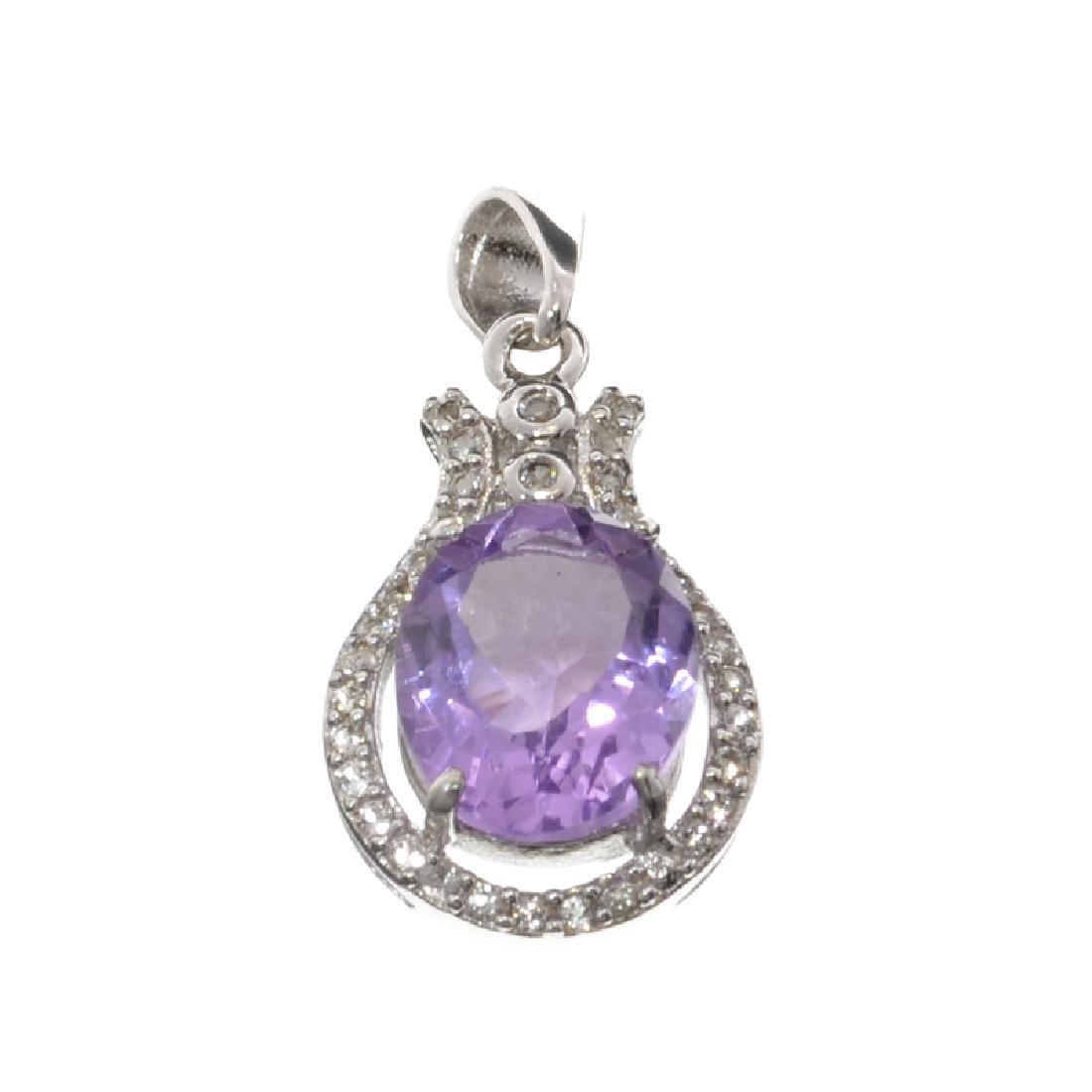 APP: 0.8k Fine Jewelry 3.60CT Purple Amethyst And White