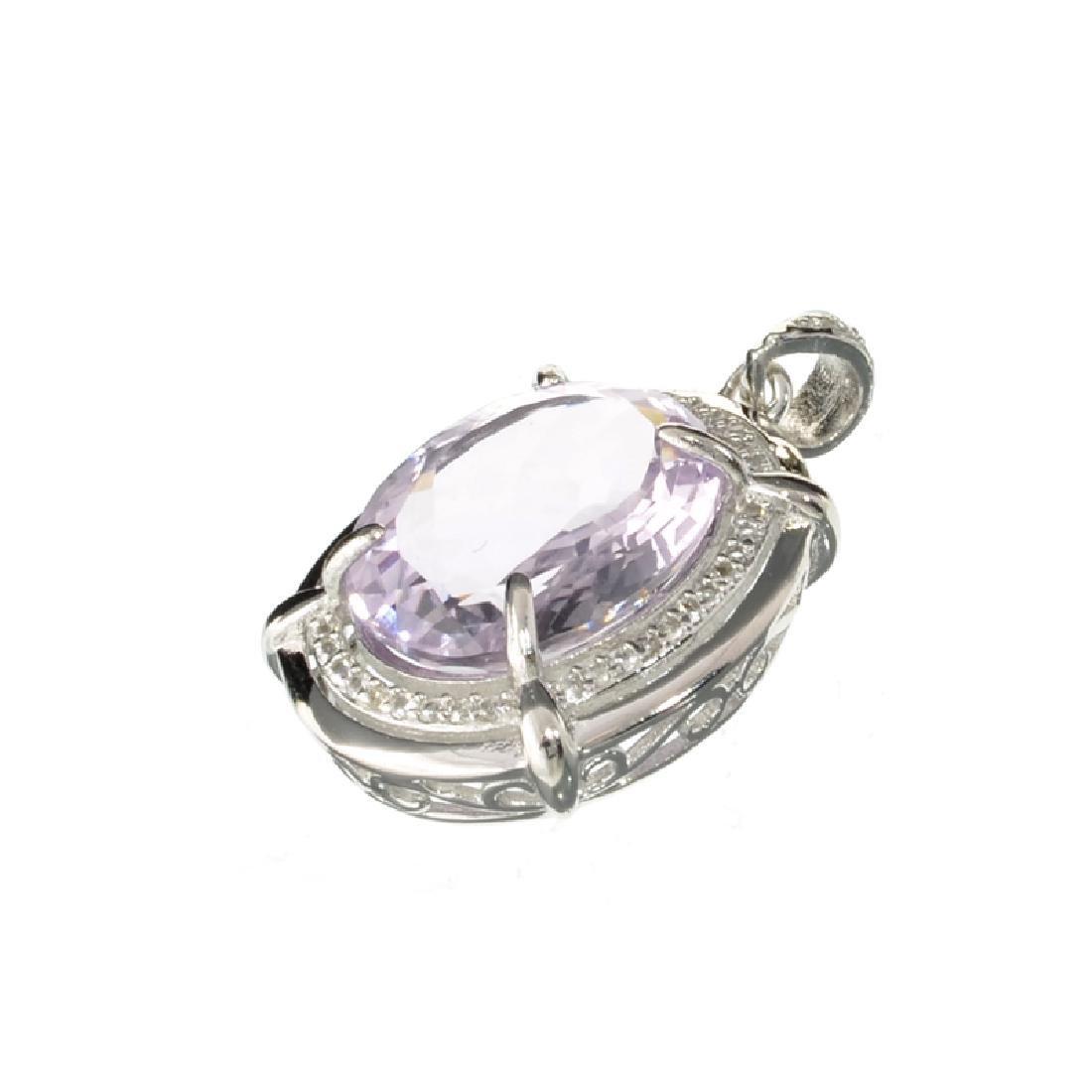 APP: 1.1k Fine Jewelry 10.00CT Oval Cut Amethyst/White