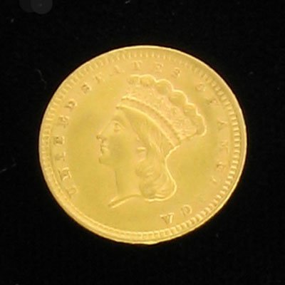 3006: 1856 $1.00 Indian Head Gold Coin - Investment Pot