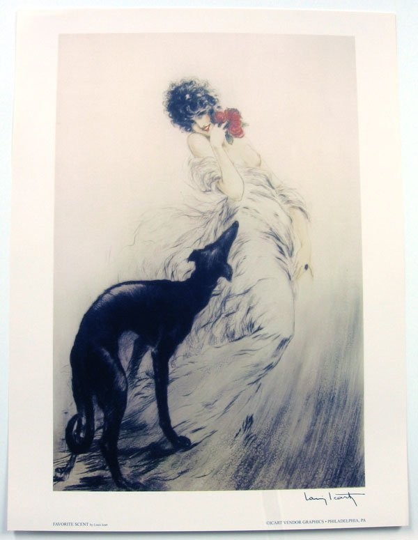 3011: LOUIS ICART Favorite Scent Print, Collectable