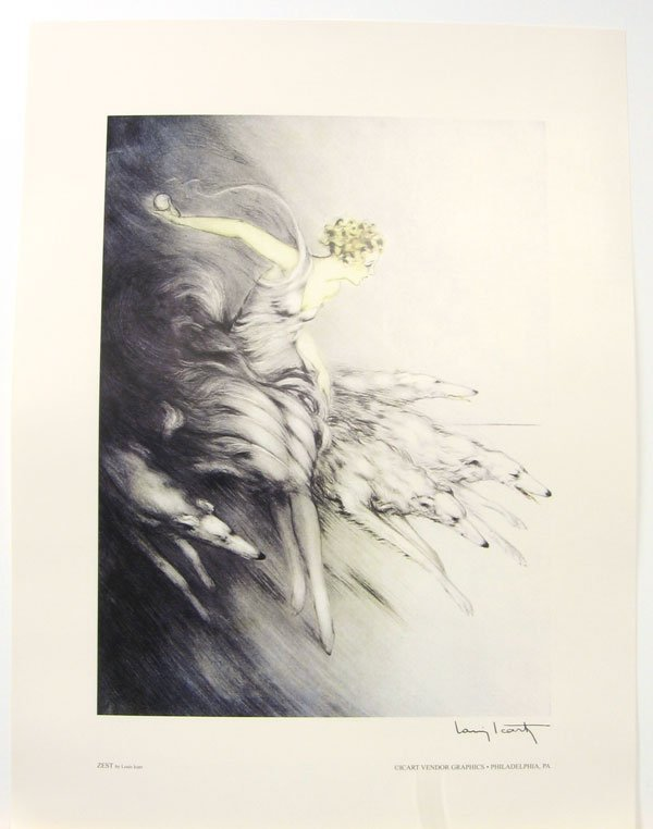 3019: LOUIS ICART Zest Print, Collectable
