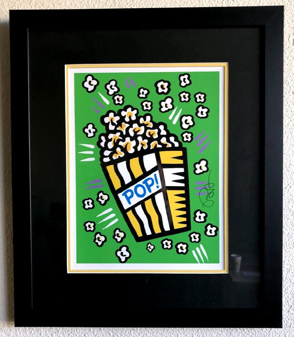 Burton Morris - ''''Popcorn'''' Green Framed Giclee