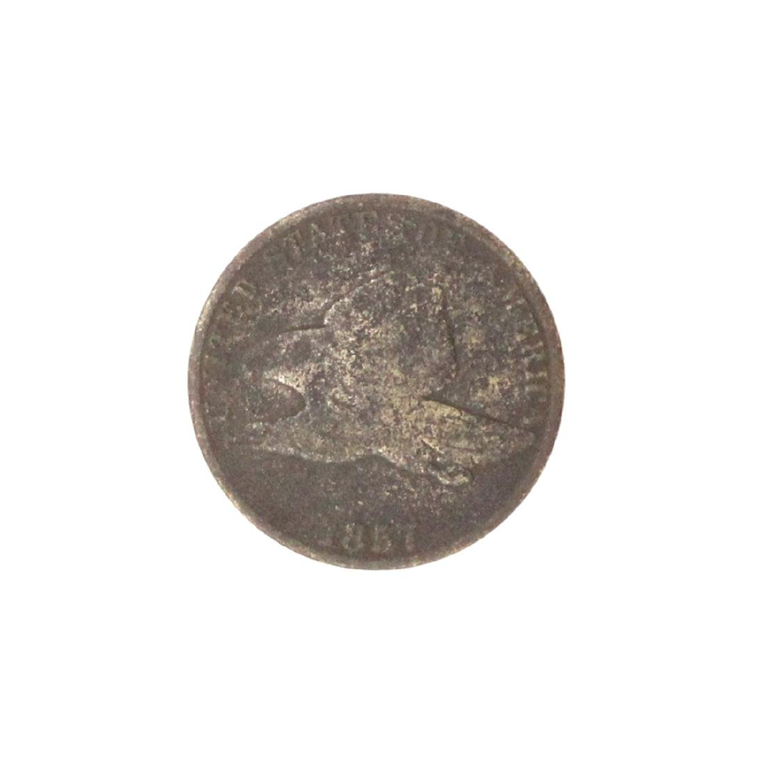 1857 Flying Eagle One Cent Coin
