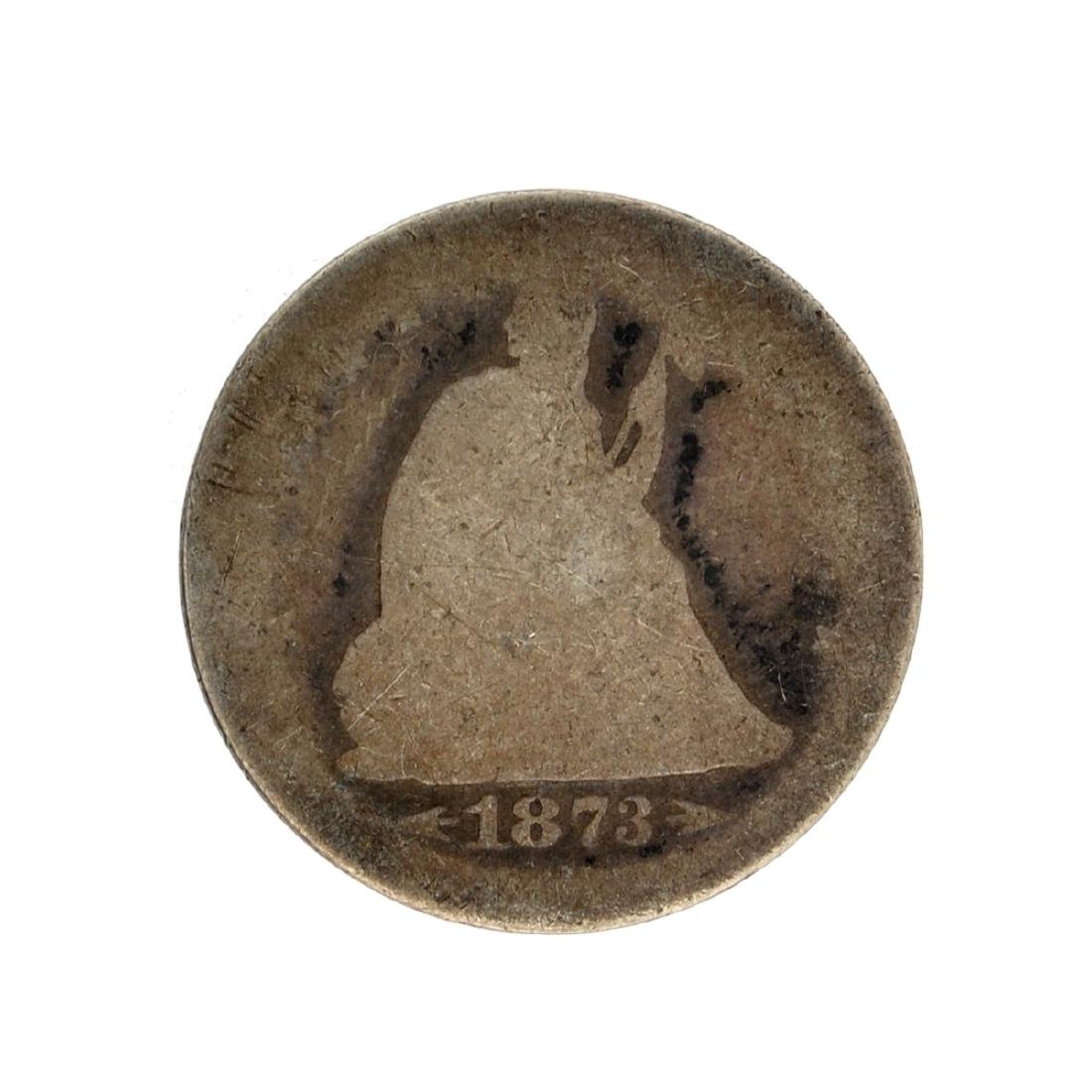 1873 Liberty Seated Arrows At Date Quarter Dollar Coin