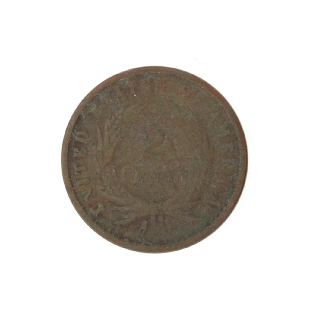 1869 Two-Cent Piece Coin