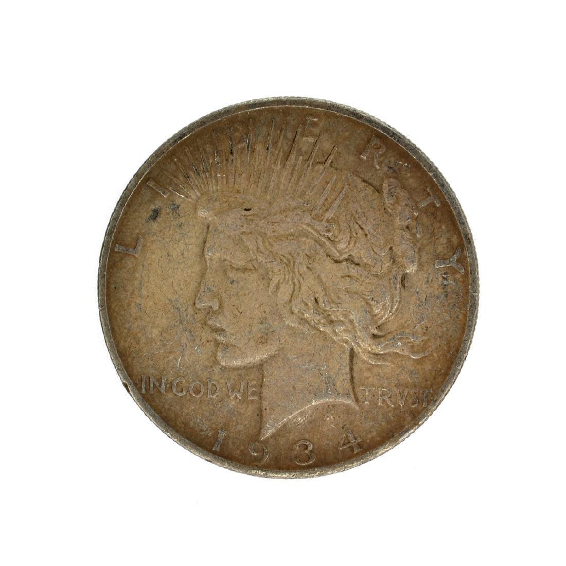 1934-D Peace Silver Dollar Coin