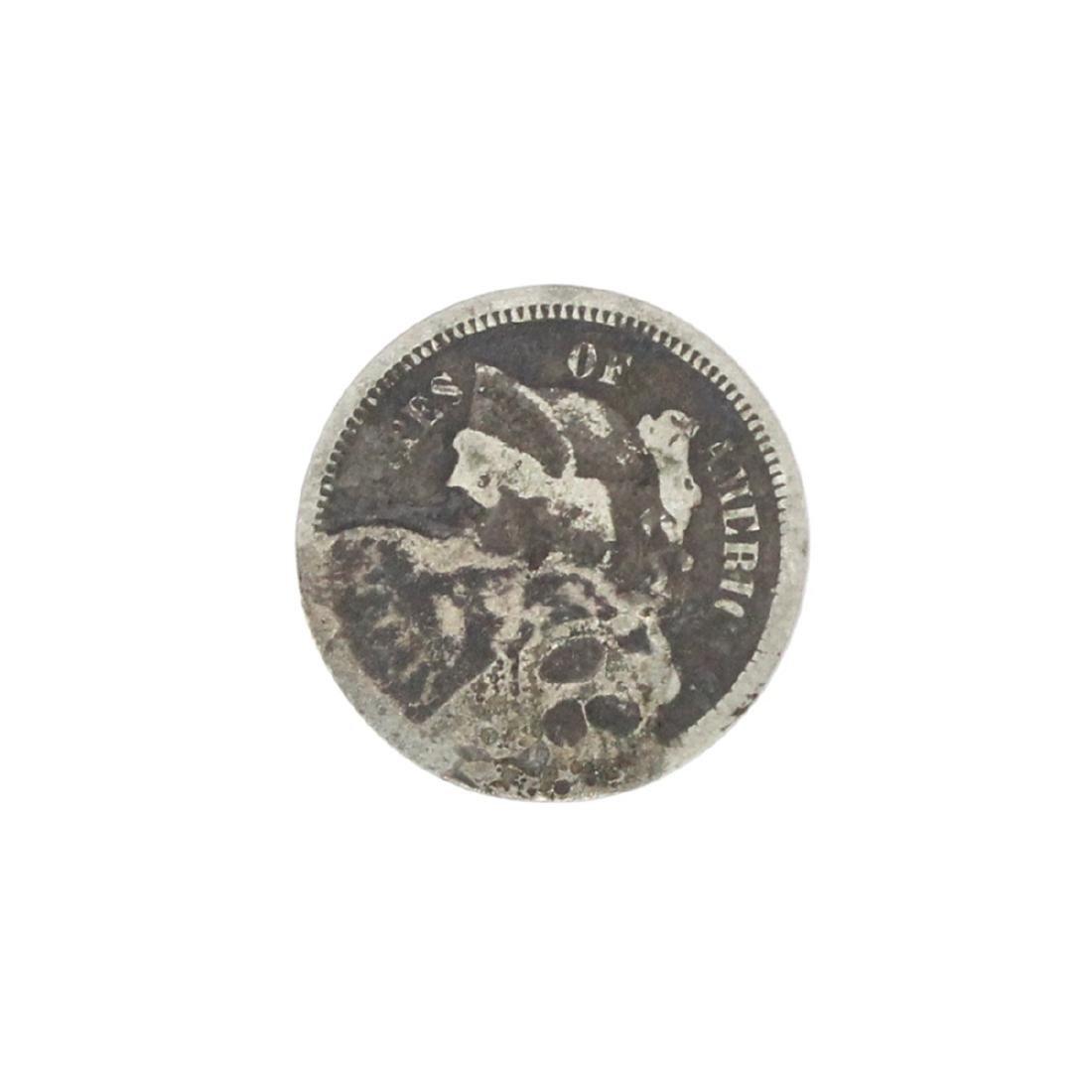XXXX Three Cent Piece Nickel Coin