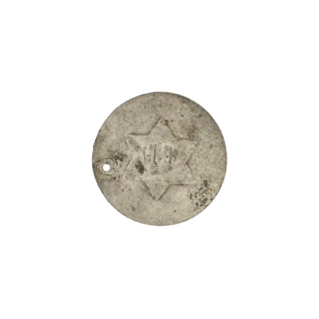 XXXX Silver Three-Cent Coin