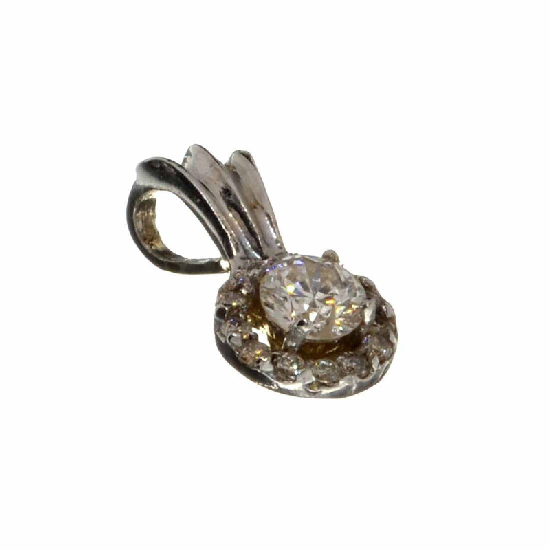 APP: 1.4k Fine Jewelry 0.33CT Round Cut Diamond Pendant