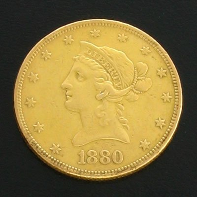 1604: 1880 $10 US Coronet Gold Coin-Investment Potentia