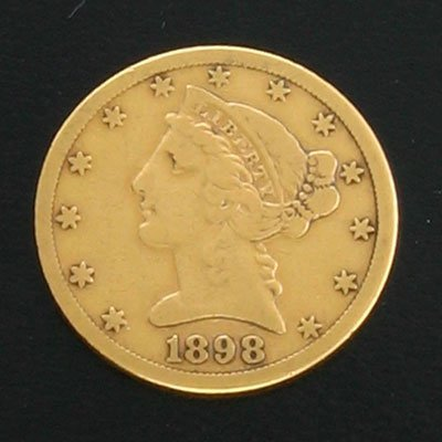 1612: 1898-S $5 Coronet Gold Coin-Investment Potential