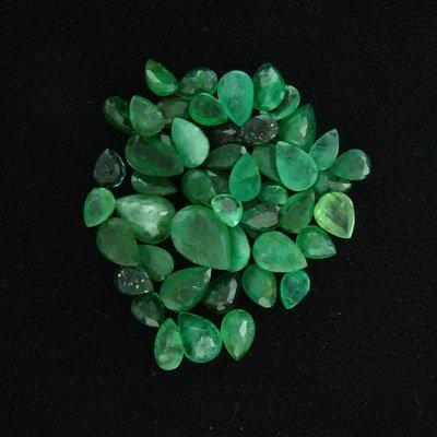 1632: APP: $9.9k 20.60CT Pear Emerald Parcel-Precious G