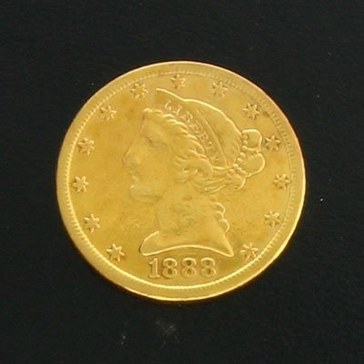 1642: 1888-S $5 Coronet Gold Coin-Investment Potential