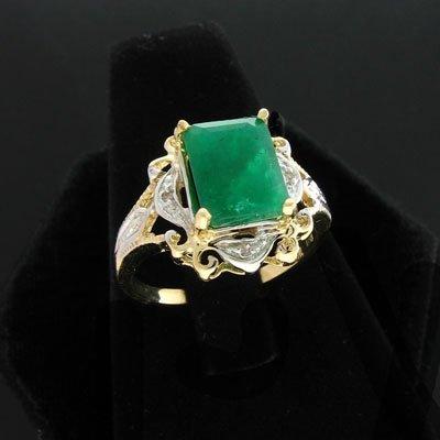 1879: APP: 4.6k 14 kt. Gold, 2.60CT Emerald & 0.04CT Di