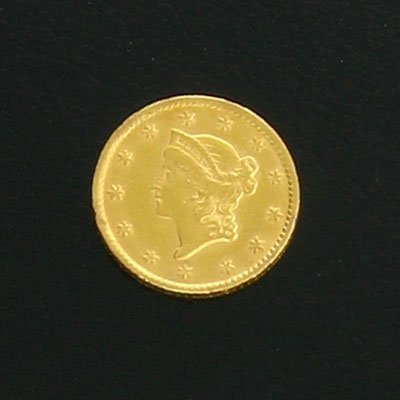 1885: 1853 $1 US Liberty Gold Coin-Investment Potential