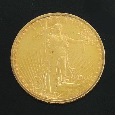 1917: 1908 $20 US Saint-Gauden Gold Coin-Investment Pot