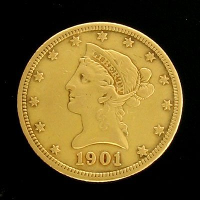 1616: 1901-S $10 US Coronet Type Gold  Coin-Investment