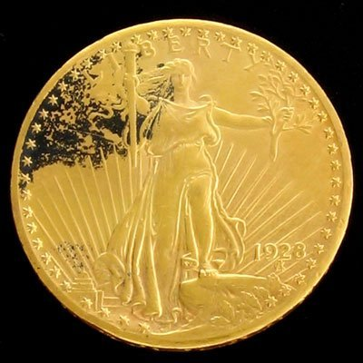 1620: 1928 $20 US Saint-Gaudens Type Gold  Coin-Investm