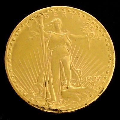 1628: 1927 $20 US Saint-Gaudens Type Gold  Coin-Investm