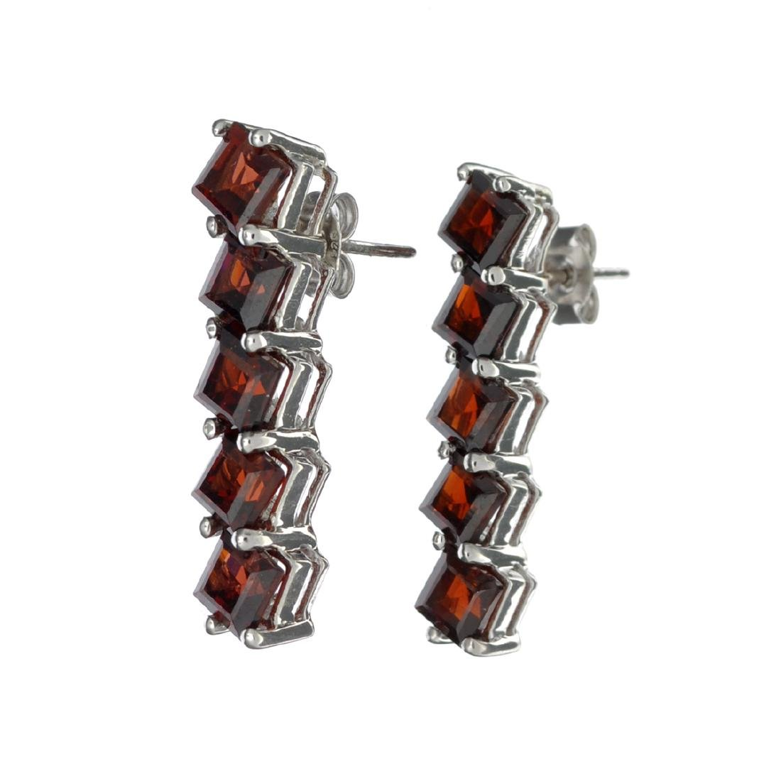 APP: 0.4k 8.00CT Square Cut Almandite Garnet Sterling