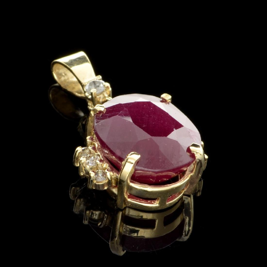 APP: 3.7k Fine Jewelry 14 kt. Gold, 14.83CT Ruby And