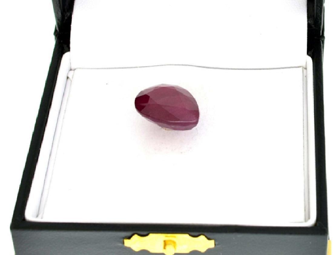 APP: 4.2k 18.56CT Pear Cut Ruby Gemstone