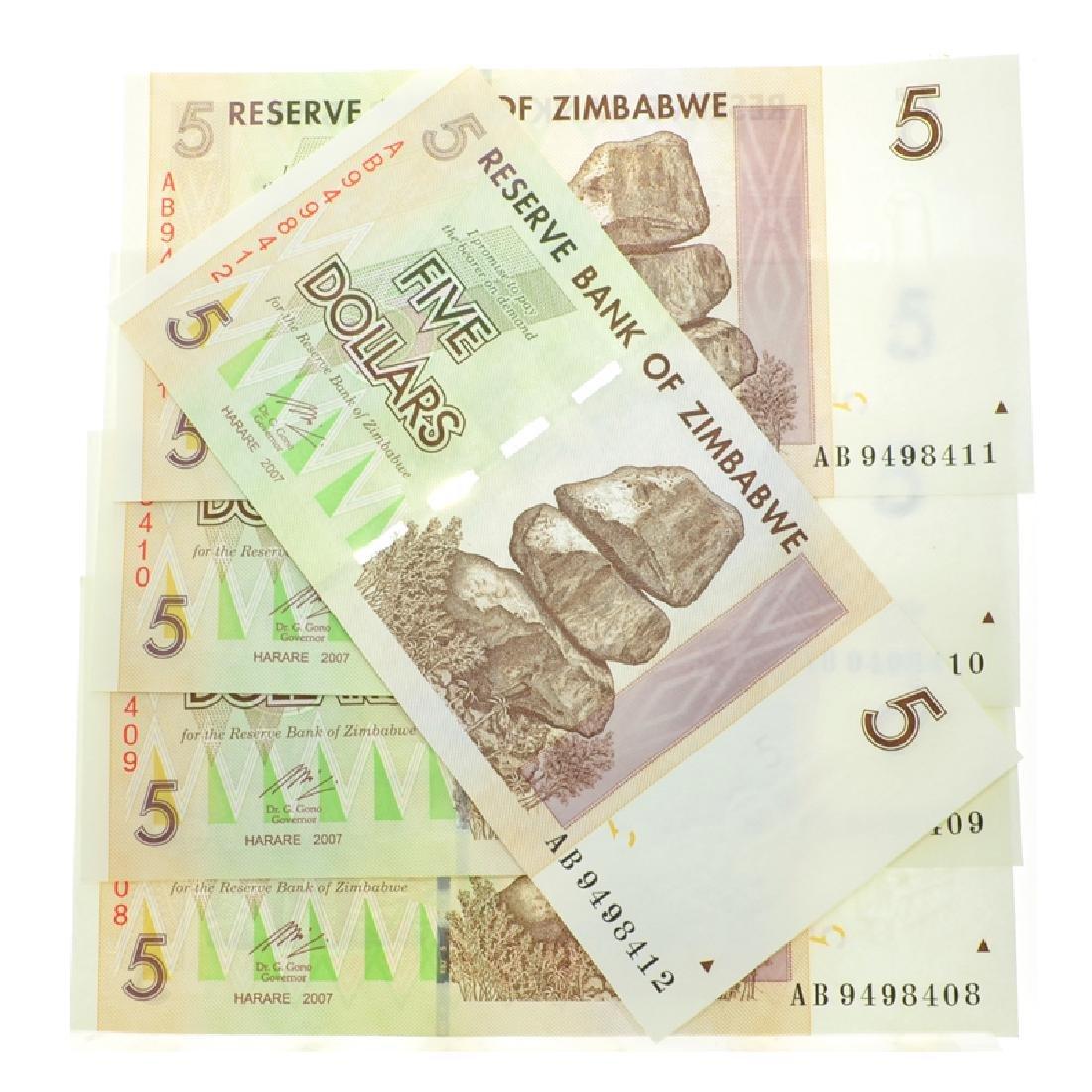 $5 Zimbabwe Elephant Note