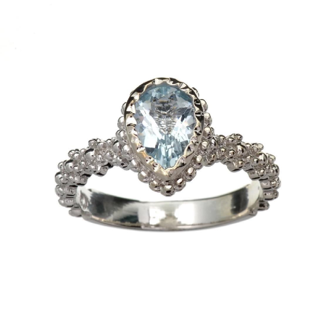 APP: 1k Fine Jewelry 1.45CT Pear Cut Aquamarine Beryl