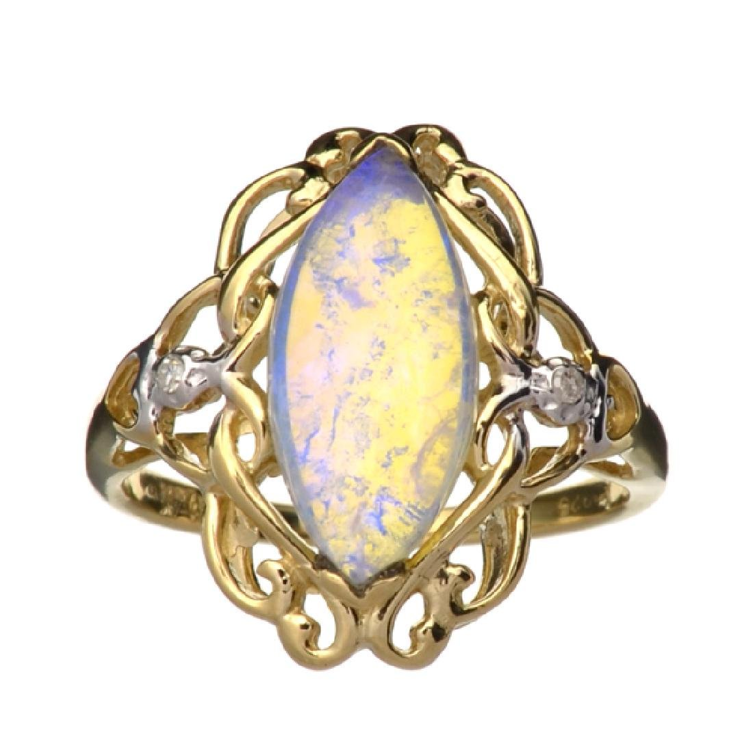 APP: 1.9k 14 kt. Yellow/White Gold, 1.56CT Opal And