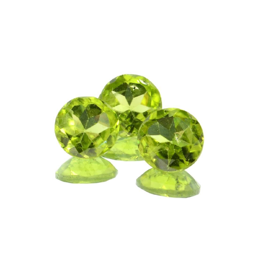 APP: 1.1k 5.66CT Round Cut Green Peridot Parcel