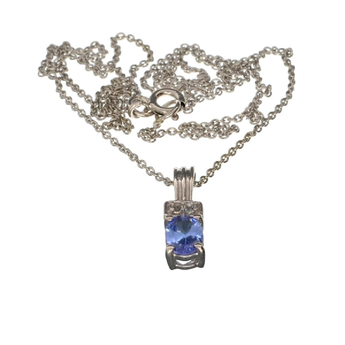 APP: 0.8k Fine Jewelry 0.71CT Tanzanite And White