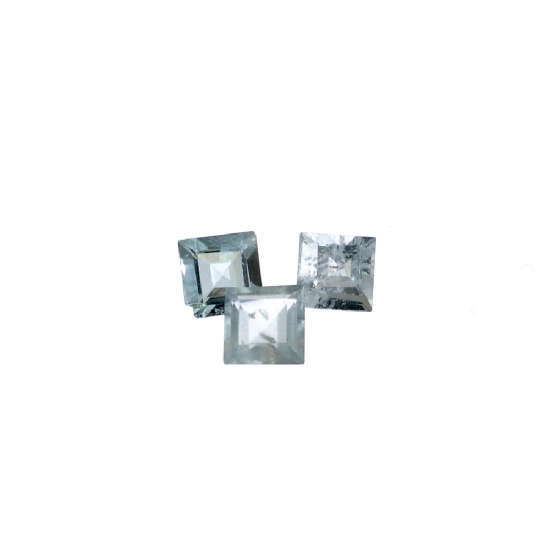 APP: 1k 2.55CT Rectangular Cut Aquamarine Parcel