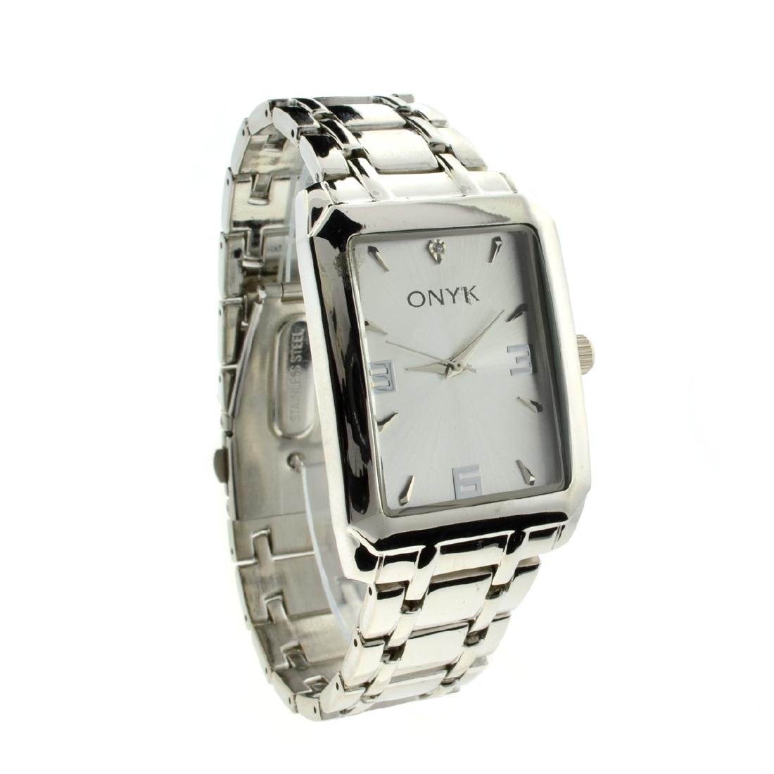 New Gorgeous Onyk Sainless Steel Back Water Resistant