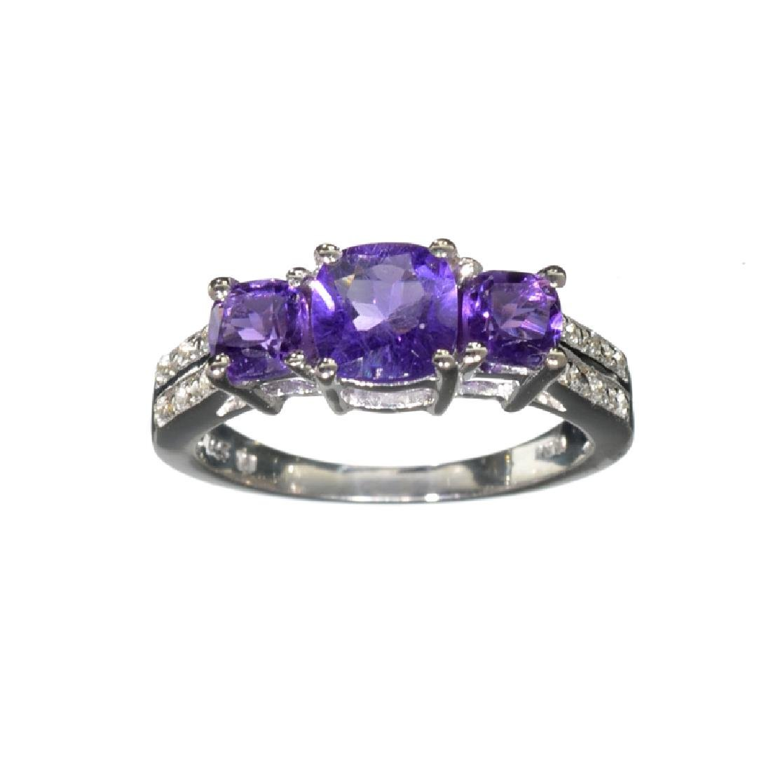 APP: 0.5k Fine Jewelry 1.54CT Purple Amethyst And White