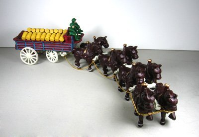 4: Eight Horse Beer Wagon - Cast Iron, Collectable