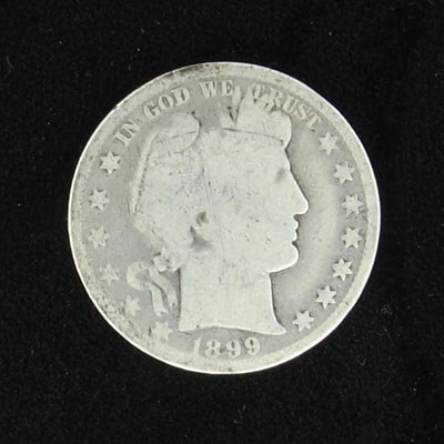 12: 1899 Barber Head Type Half Dollar Coin - Investment