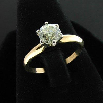 19: APP: $9.7k 14 kt. Gold, 1.01CT Round Diamond Ring
