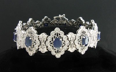21: APP: $10.9k 14 kt. White Gold, 10.47CT Sapphire and