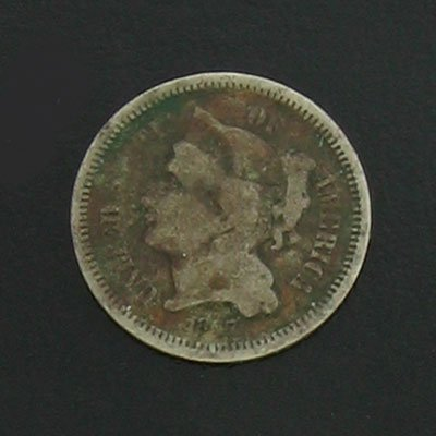23: 1867 Three Cent Coin - Investment Potential