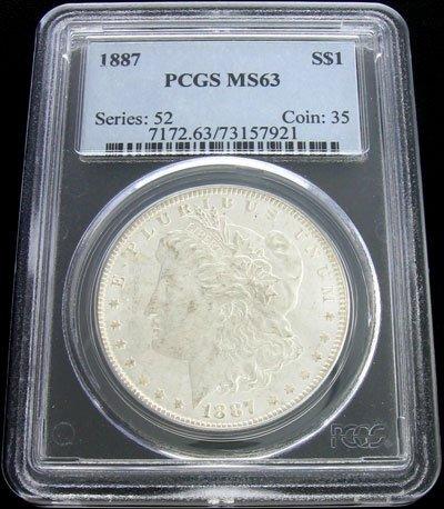 24: 1887 Morgan Silver Dollar Coin - Investment Potenti