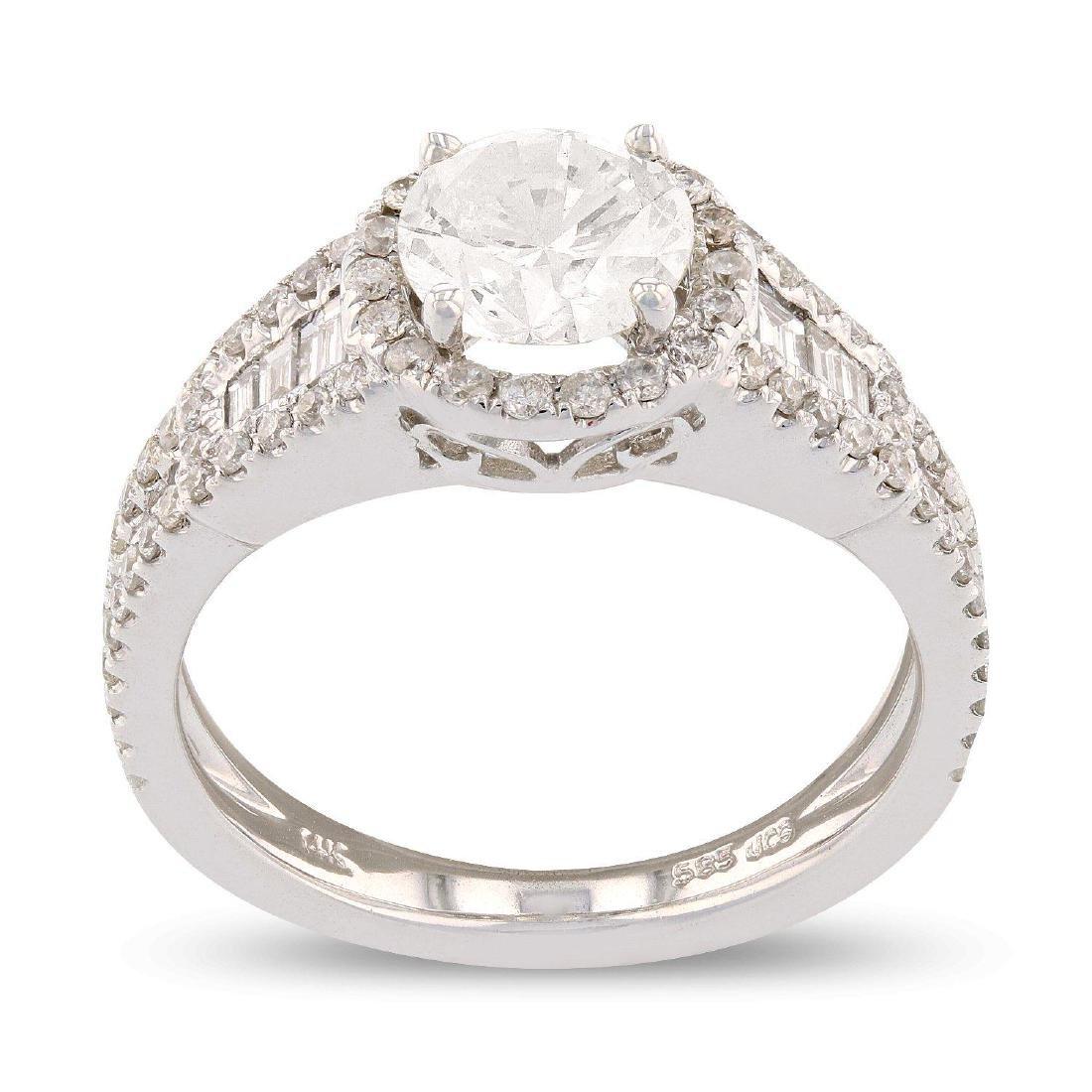 APP: 11.8k *1.02ct Round Cut CENTER Diamond 14K White