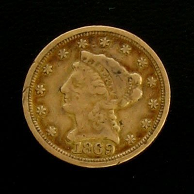 1902: 1869 $2.5 Liberty Head Type Gold Coin-Investment