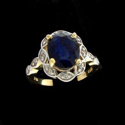 1909: APP: $5.6k 14 kt. Gold, 2.60CT Sapphire 0.12CT Di