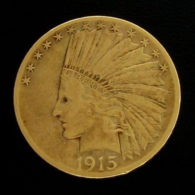 1918: 1915 $10 US Indian Head Type Gold  Coin-Investmen