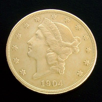 2210: 1904-S $20 US Double Eagle Gold Coin Investment
