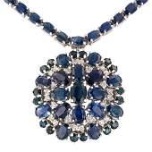 APP 178k 3411ctw Blue Sapphire and 100ctw Diamond