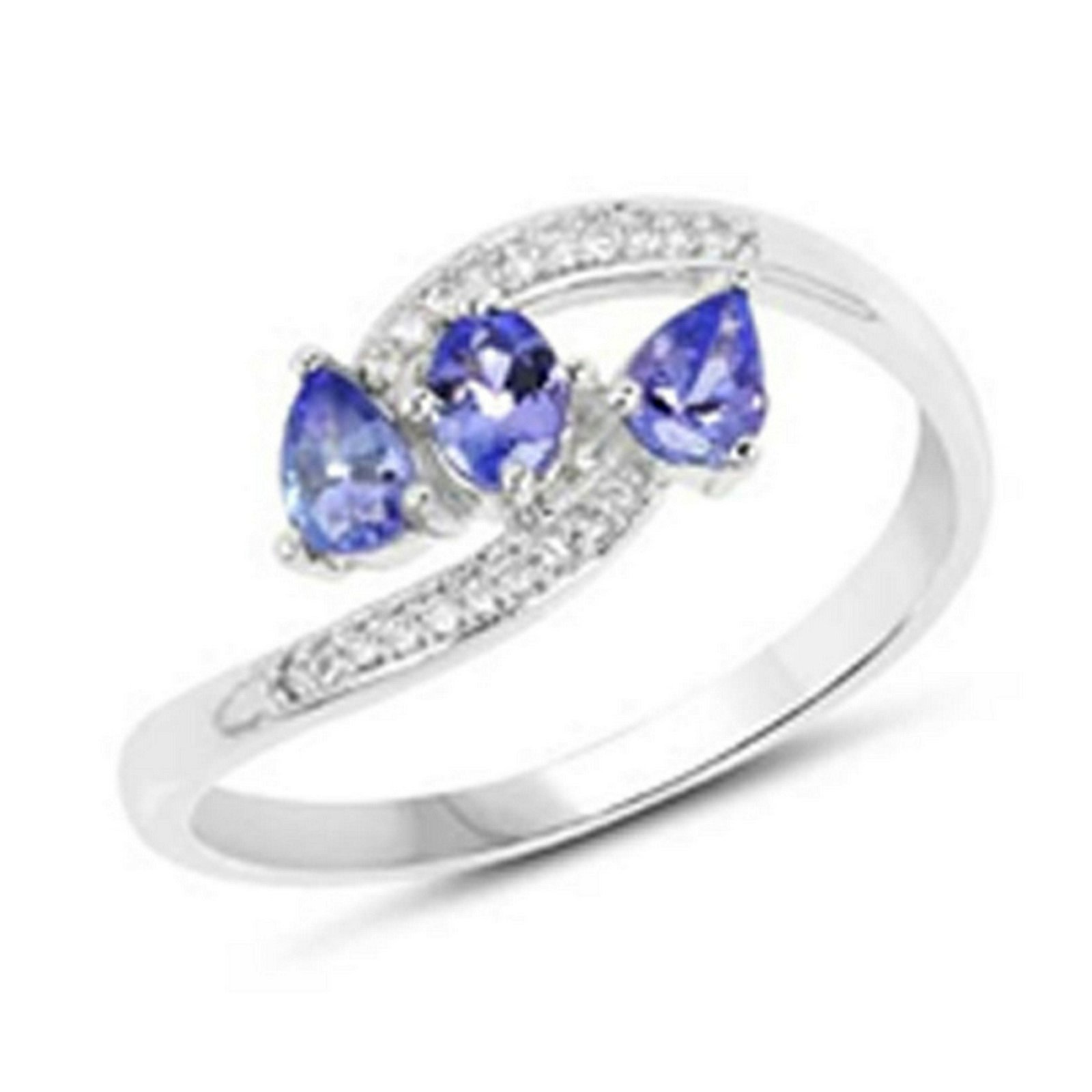 *Fine Jewelry 14 KT White Gold, 2.16CT Tanzanite And