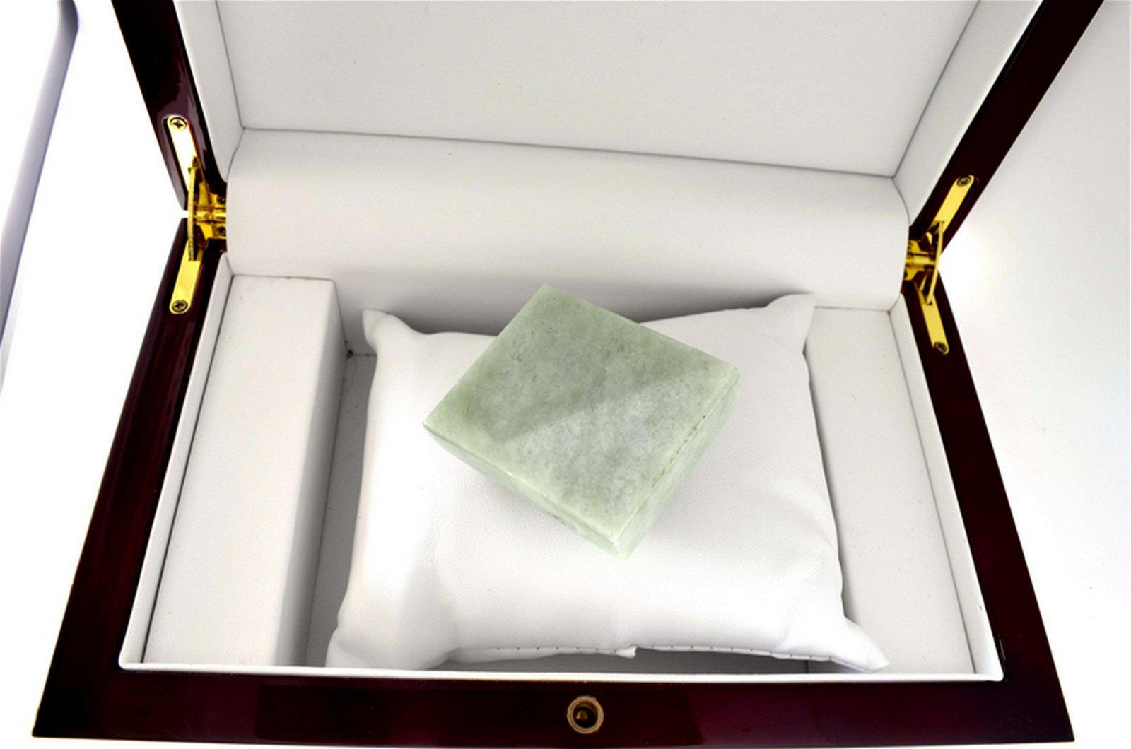 APP: 7.8k 647.50CT Square Cut Light Green Jade Gemstone